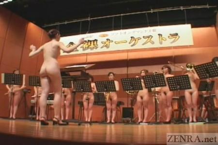 Nude japanese drum