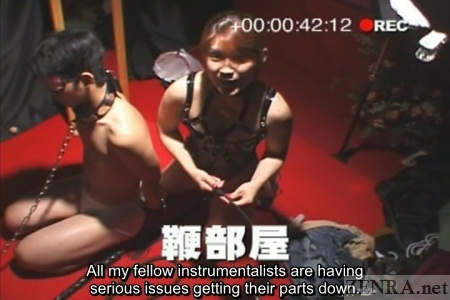 Bizarre Japanese femdom with whipping boy