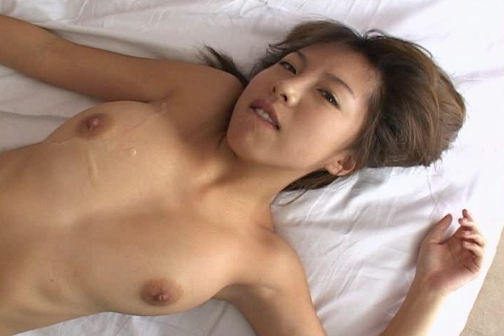 Mai Hagiwara grins with cum spattered on her breasts