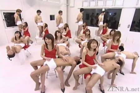 Strange Japanese musical orgy ensemble