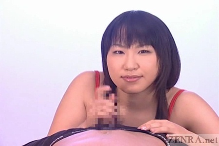 Japanese handjob shown in POV