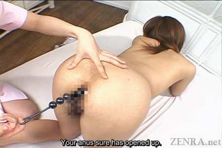 Anal during massage