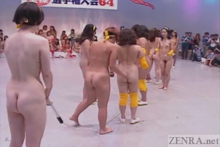 Weird nudist jump rope at Japanese sporting event