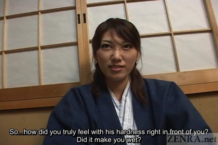 Japanese yukata amateur talks about arousal