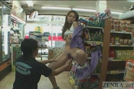 Convenience store blowjob wish could