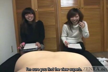 Are bizarre subtitled japanese cfnm instructional seminar