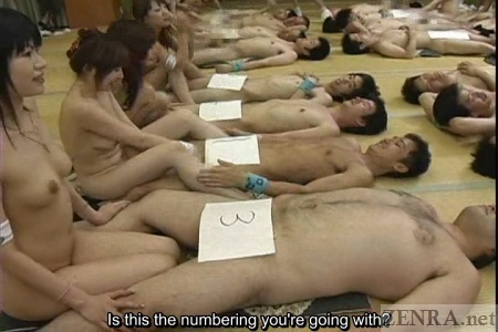Naked Japanese women attempt to identify penises