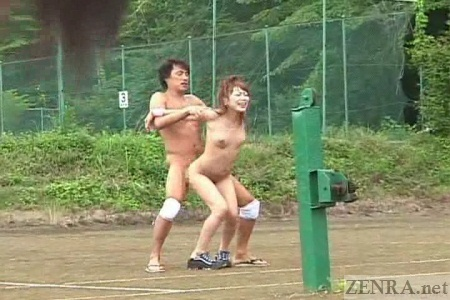 Crazy outdoor Japanese sex