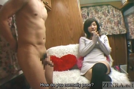 Japanese cfnm or clothed female naked man porno photo
