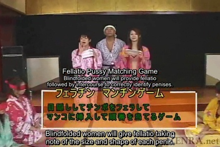 Japanese AV stars introduce penis matching game