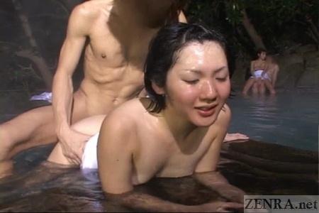 Japanese yuna sex from behind at bathhouse