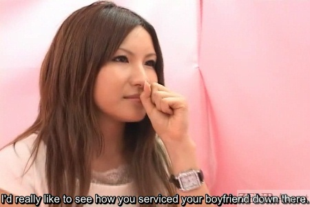Japanese gyaru penis washing interview