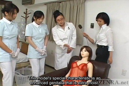 Japanese reporter is showcased special moist love doll