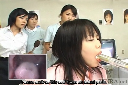 Japanese female patient oral skills test