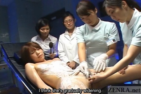 ENF Japanese fingering by nurses and doctor