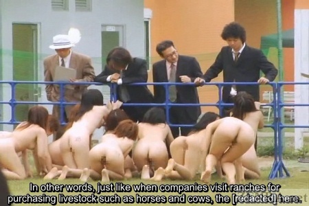CMNF Japanese businessmen with nudist women