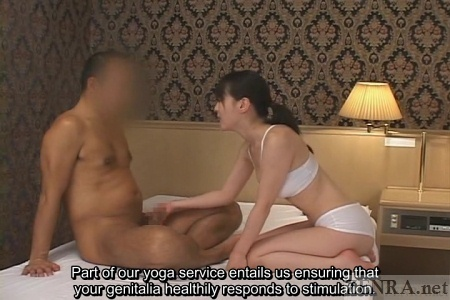 CFNM penis massage during yoga