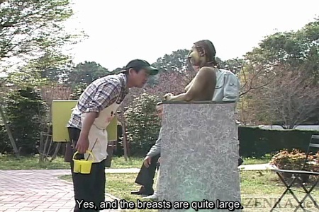 Park artist admires new naked statue