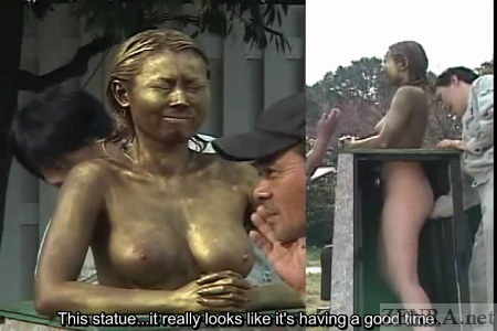 Japanese statue fingered with onlookers