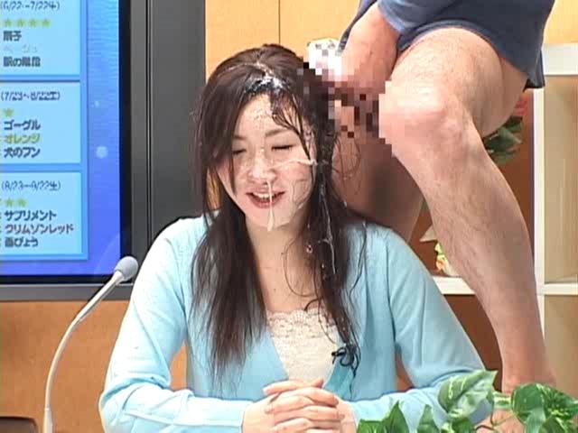 Japanese news reporter bukkake and fuck