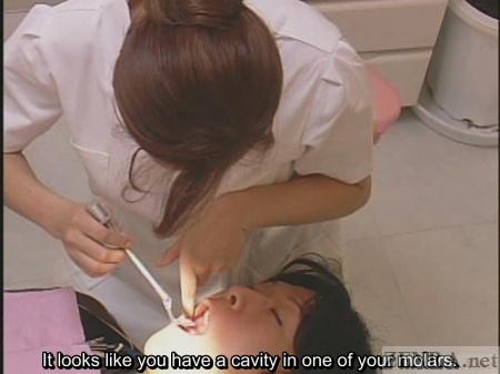 Japanese dentist teeth inspection