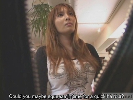 Japanese hair stylist near closing time
