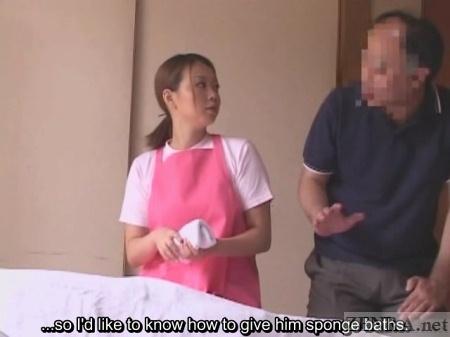 Japanese sponge bath demonstration