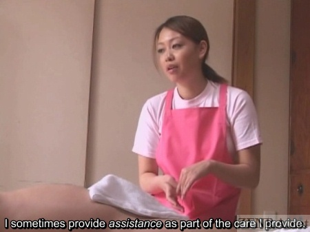 Handjob aid discussion with Japan caregiver
