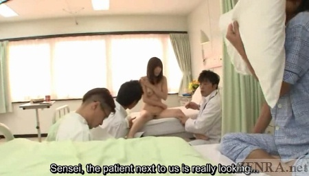 ENF Japanese woman surrounded by clothed doctors