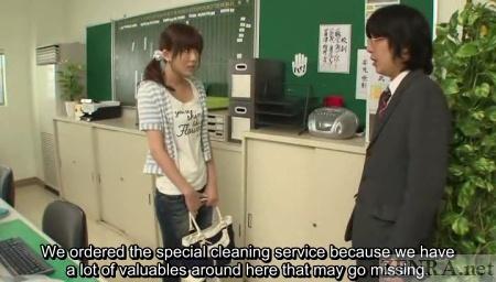 Rin Sakuragi instructed to strip naked for cleaning job