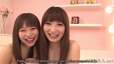 Happy naked Japanese lesbians