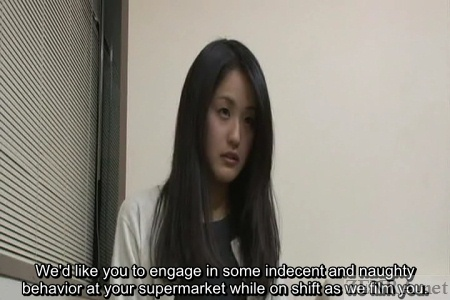 Japanese amateur interview for lewd supermarket job