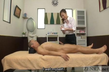 CFNM virgin Japanese massage commences