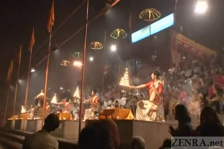Varanasi Ganges River night festival
