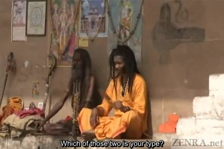 Indian guru with black itinerant
