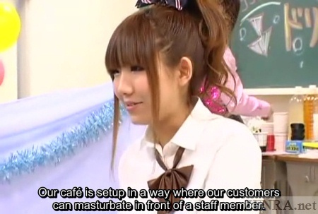 Japanese schoolgirl explains masturbation cafe rules