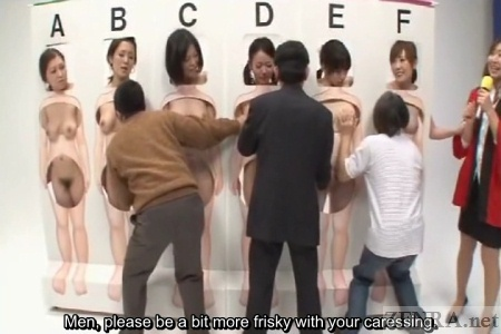 Japanese men use hands and mouths to explore nudist women