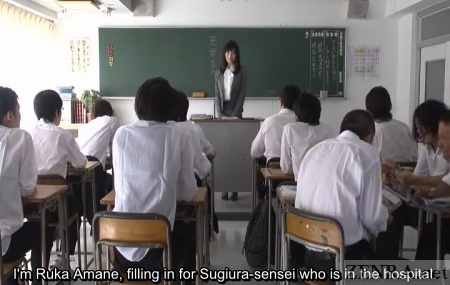 Japanese newhalf teacher introduces herself