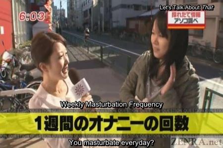 Japanese news masturbation street interview