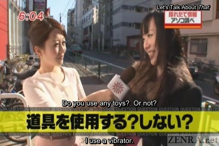 Sex toy interview on Japanese street