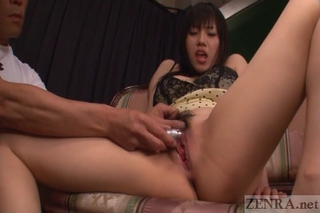 Bottomless moaning Azusa Nagasawa pleasured with toy