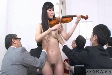 CMNF recital with touching