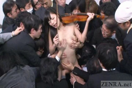 Subtitled extreme japanese public nudity striptease in tokyo 8