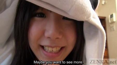 POV Japanese cosplay closeup