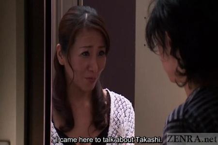 Worried Japanese milf