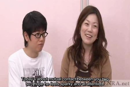 Large Japanese woman with skinny mate