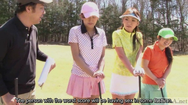 Erotic ladies golf in Japan