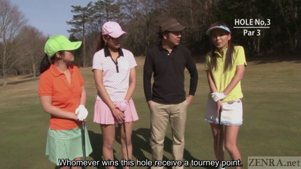 Final swing in Japanese golf
