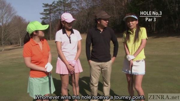Final swing in Japanese golf