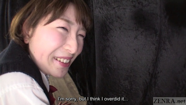 Japanese schoolgirl makes stinky farts